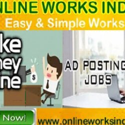 Join Today Online Ads Posting Jobs in India 6000 Monthly