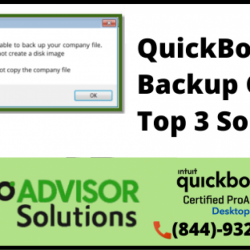 How to Trigger out QuickBooks unable to backup company file
